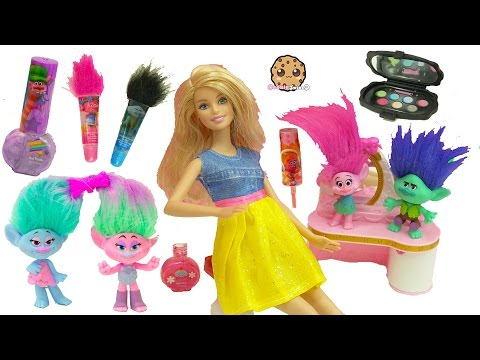 Thumbnail: Trolls Poppy, Branch, Satin and Chenille Give Barbie & Shopkins Makeovers