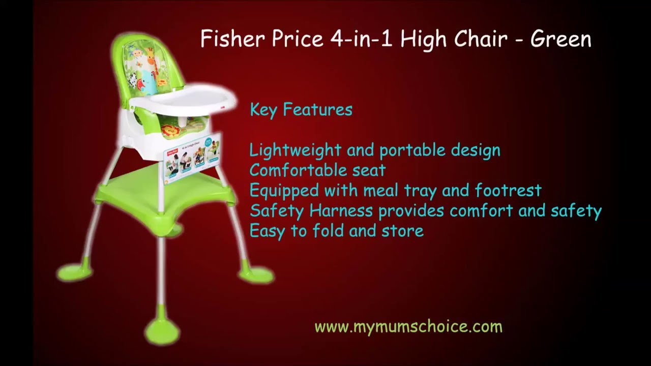 Chair fisher price high chair ez clean - Fisher Price 4 In 1 High Chair Green Baby High Chair