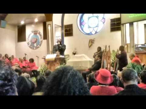Rev Brent Brown,Preaching at Simmons Memorial 2 12  17