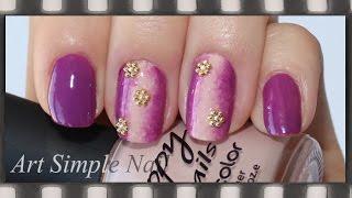 Градиентный маникюр с украшениями | Gradient Nails