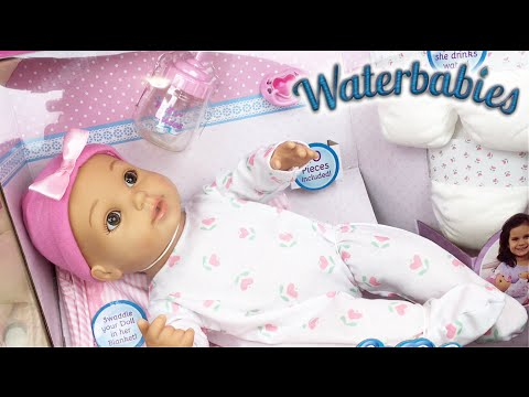 Water Babies Special Delivery Baby 25th Anniversary Drink and Wet Doll Unboxing Feeding & Details!