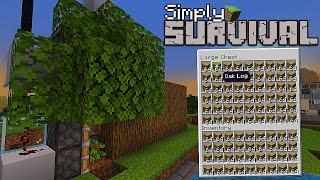 How To Build A Very Simple Auto Tree Farm! -Tutorial-MCPE,XBOX,PS4Windows10,Nintedo Switch,Bedrock