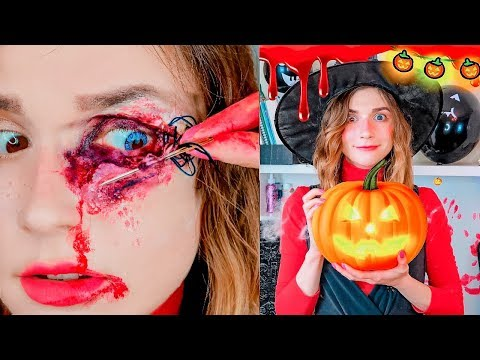 Last-Minute Halloween Decor + Makeup Tutorial/ How To Make Ghosts, Pumpkins, Spiders etc.