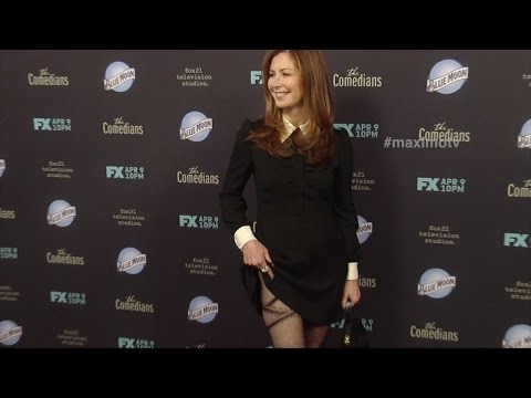 Dana Delany Flashes Her Stocking FX's The Comedians Red Carpet Premiere Arrivals