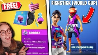 *NEW* Fortnite Update | Fortnite 2nd Birthday Event, World Cup Skins OUT NOW!!
