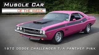 Muscle Car Of The Week Video #24: 1970 Dodge Challenger T/A Panther Pink