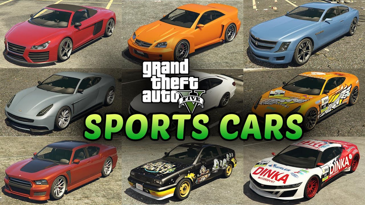 GTA 5 Sports Cars List   All Sports Cars In Grand Theft Auto V   YouTube