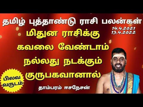 Tamil NewYear Rasipalan 2021   Mithunam   Pilava Varudam Tamil Puthandu Palan  தமிழ் புத்தாண்டு பலன்