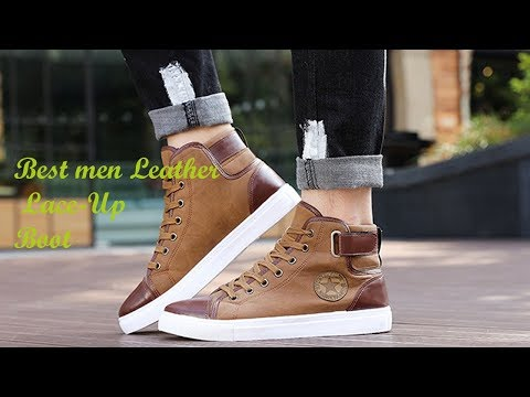 Best men Leather Lace Up Boot || men Leather Lace-Up Boot review