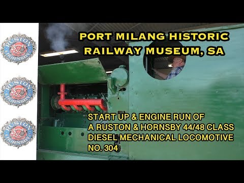 Ruston & Hornsby 44/48 Class Engine Run at Port Milang Historic Railway Museum 17/2/18 from YouTube · Duration:  7 minutes 46 seconds
