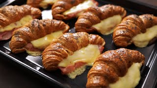 Ham and Cheese Croissants - Quick, Easy and Impressive Breakfast or Brunch