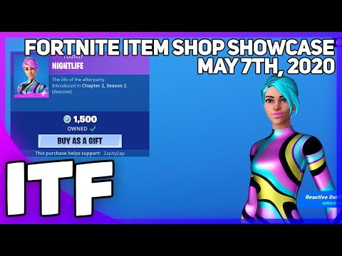 Fortnite Item Shop *NEW* REACTIVE NIGHTLIFE SKIN! [May 7th, 2020] (Fortnite Battle Royale)