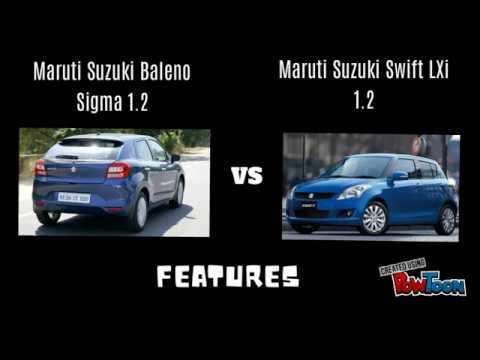 Maruti Suzuki Baleno Sigma 1.2 Vs Maruti Suzuki Swift Lxi 1.2 Petrol Versions Features