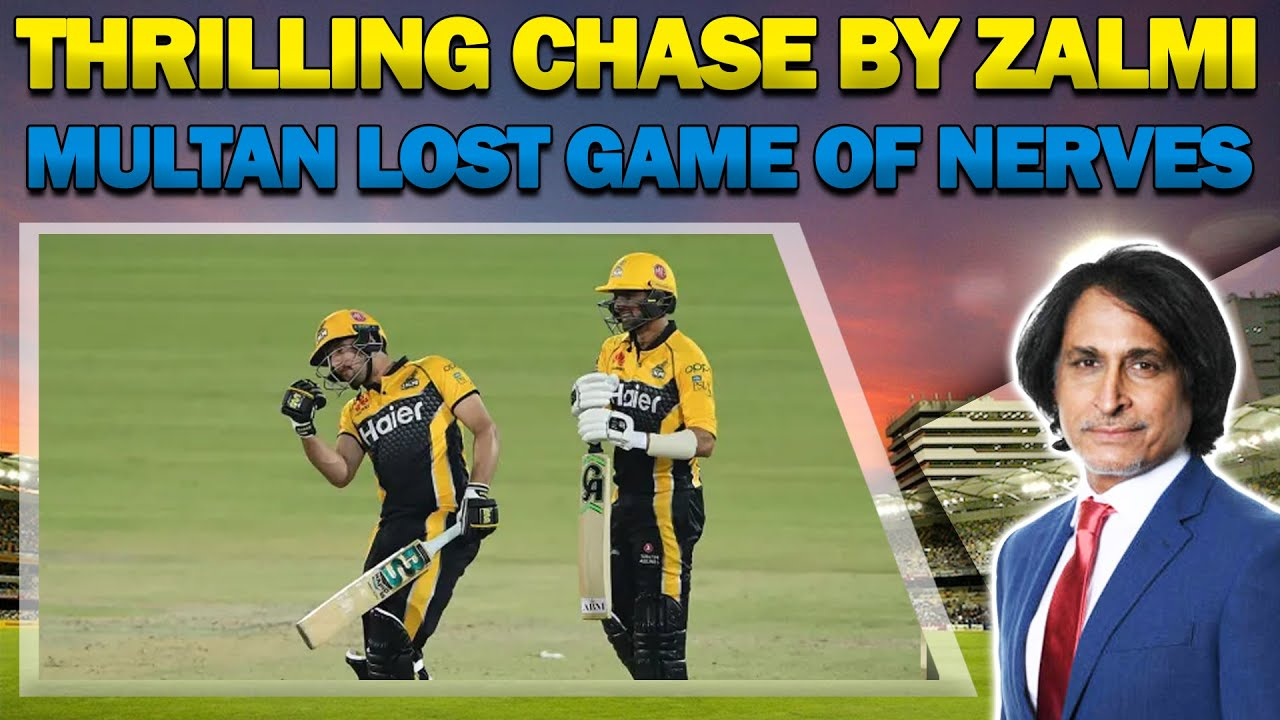 Thrilling chase by Zalmi | Multan lost game of nerves