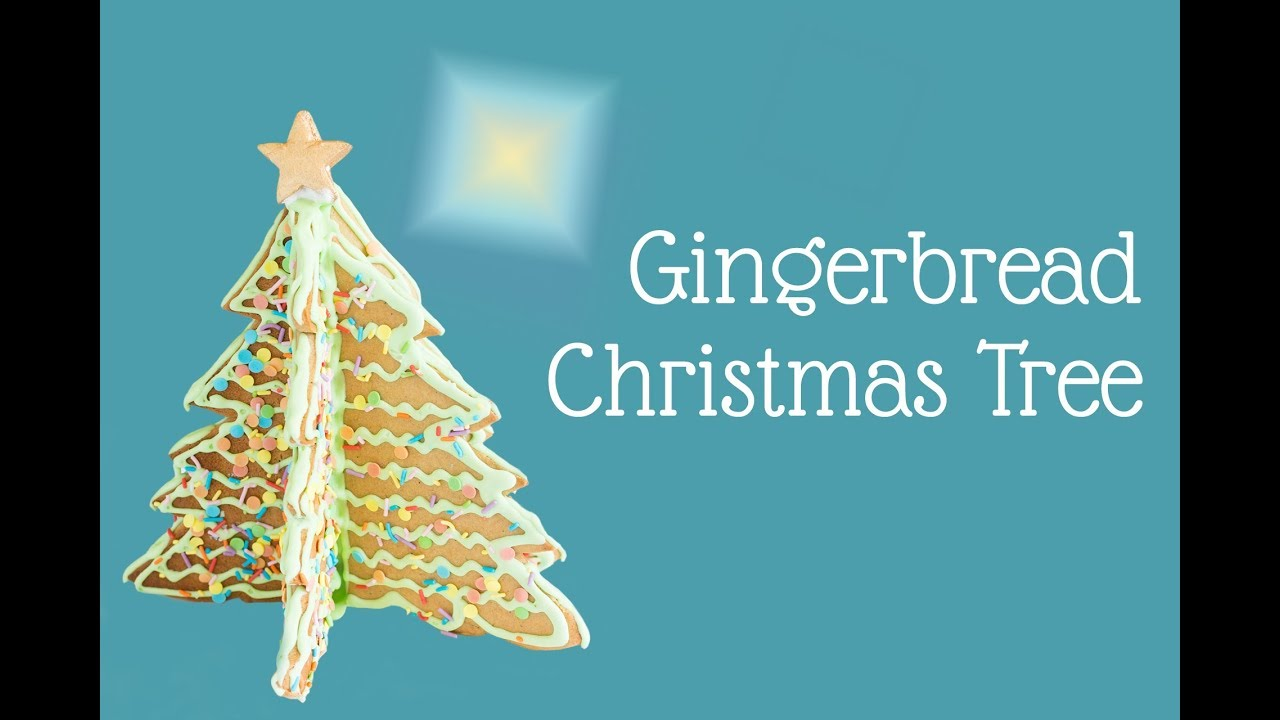 Gingerbread Christmas Tree 3d Centrepiece