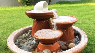 DIY How to make amazing Fountain using clay saucers