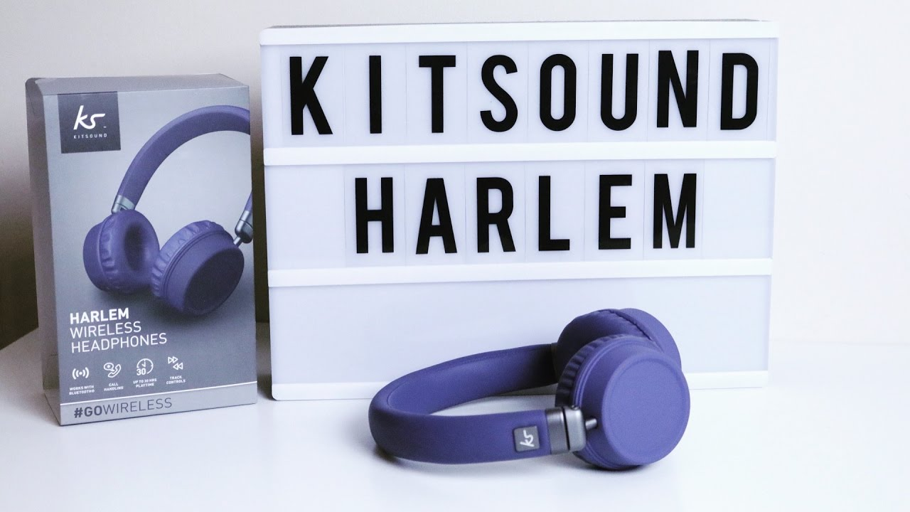 abea0c4075fe07 KitSound Harlem Wireless Headphones Unboxing & First Look - YouTube