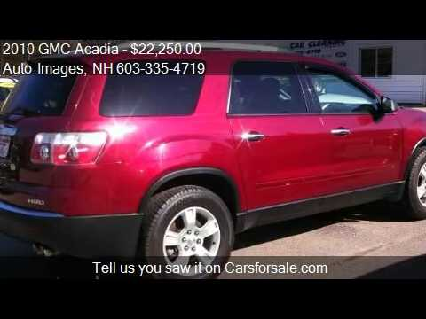 2010 gmc acadia sle awd for sale in rochester nh 03868 youtube. Black Bedroom Furniture Sets. Home Design Ideas