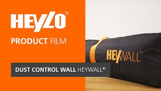 Dust conrol wall HEYWALL® [Heylo]: How do I renovate dust-free? Mobile dust control wall in use