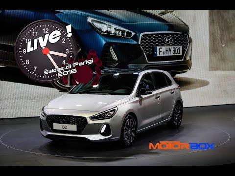 Nuova Hyundai i30 e i10 restyling live dal Salone di Parigi 2016