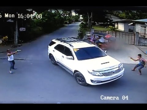 Intense shootout caught on camera in the Philippines