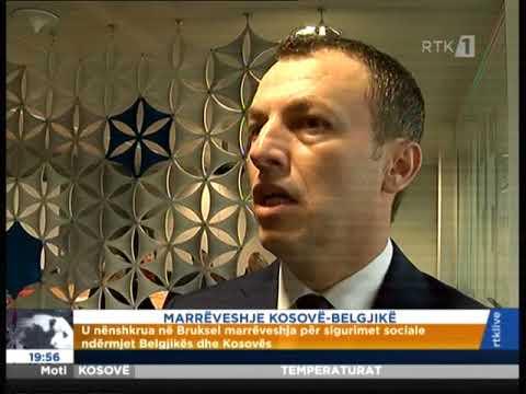 MARRËVESHJE KOSOVË  BELGJIKË