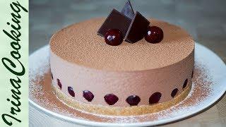 ШОКОЛАДНЫЙ ТОРТ С ВИШНЕЙ без выпечки | CHOCOLATE CAKE WITH CHERRY WITHOUT BAKING