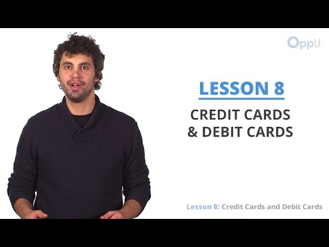 Lesson Credit Cards And Debit Cards