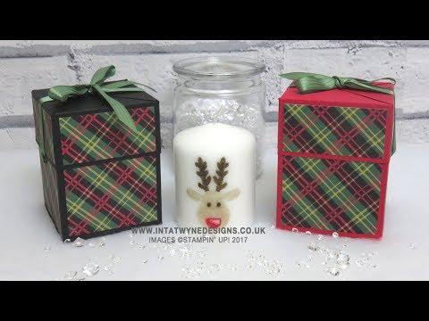 Crafty Christmas Countdown #19 - Self Closing Box using Christmas Around the World DSP