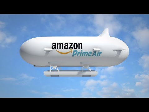 Amazon airship to launch its delivery drones; Amazon Go grocery store – Compilation