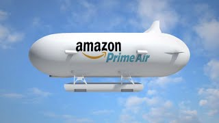 Amazon airship to launch its delivery drones; Amazon Go grocery store - Compilation