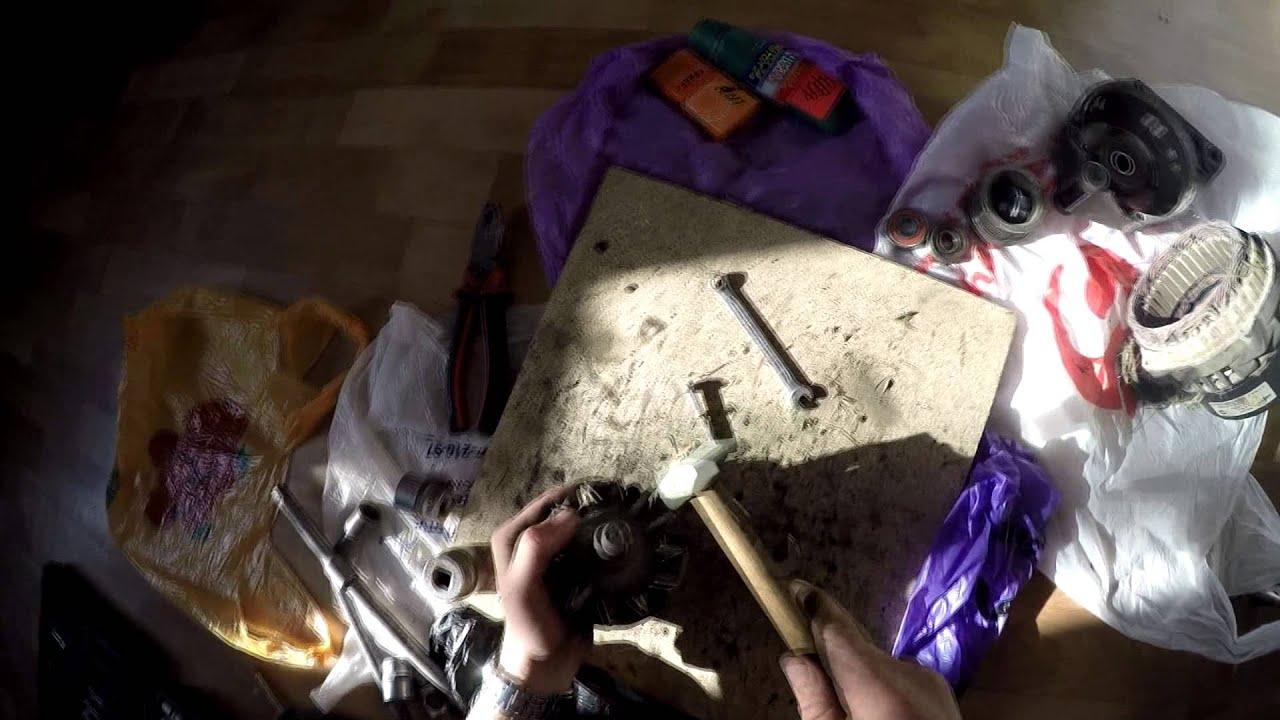 Замена подшипника генератора ВАЗ 2115 [GoPro]