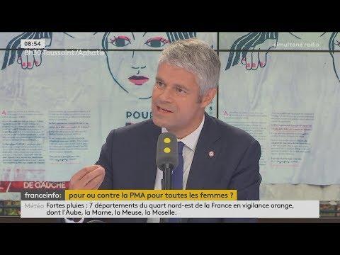 Laurent Wauquiez s'oppose à la PMA : «C'est un engrenage vers la GPA» (FRANCE INFO, 13/09/17, 8h53)