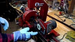 Sharpining A Bandsaw Blade For The Mighty Mite Sawmill