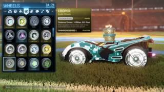 Titanium White Looper Wheels - Rocket League Loopers