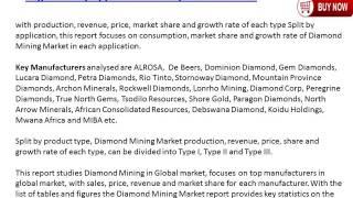 Diamond Mining Industry: 2016 Market Size, Share, Trends, Growth, 2021 Future Market