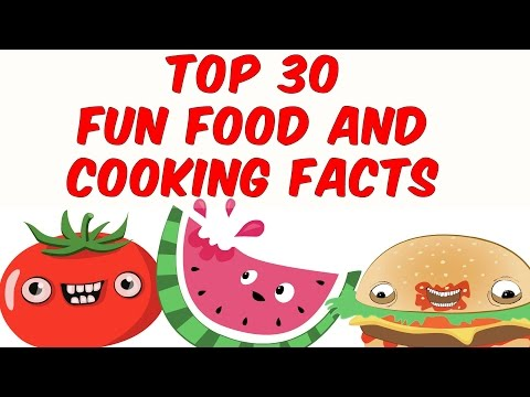 Top 30 fun food and cooking facts
