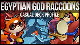 Yu-Gi-Oh Egyptian God Card Raccoon Deck Profile! (Casual)