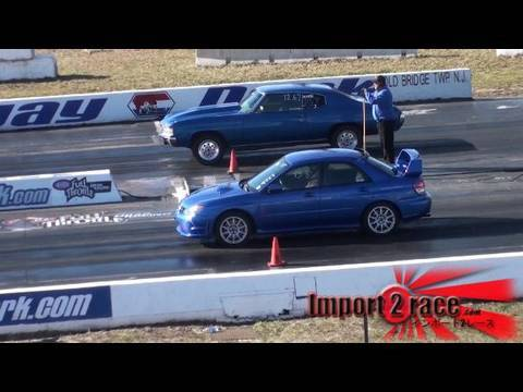 Muscle Vs Import Drag Race Youtube