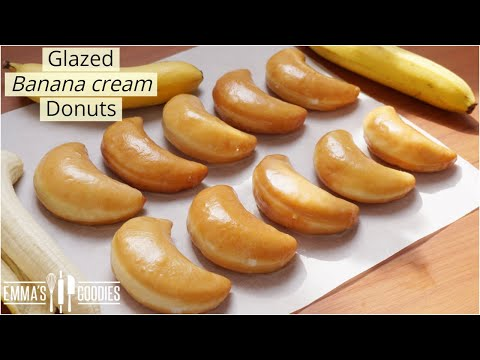 Glazed Banana Cream Donuts | Melt in your mouth Donuts recipe