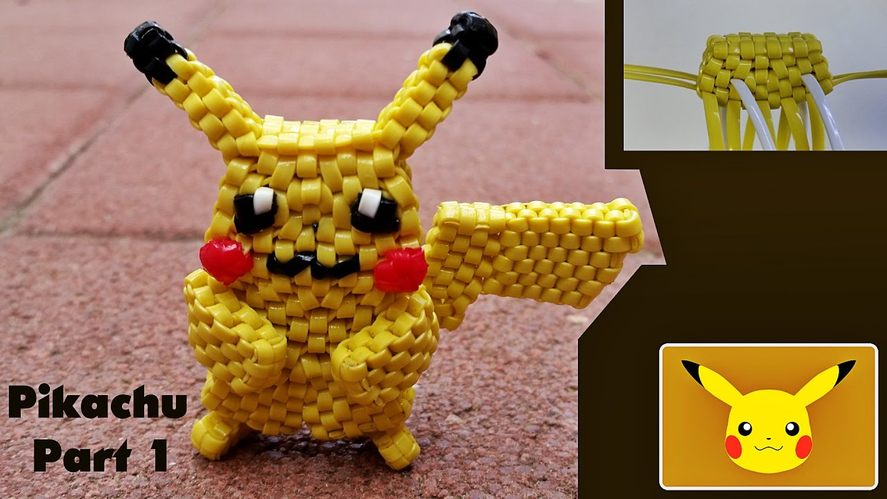 The pikachu pokemon 25 lanyard part 1 starting the for What can you make out of string