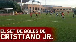 شاهد: ابن رونالدو يحرز 6 أهداف في مباراة مدرسية.. وهكذا احتفل كريستيانو