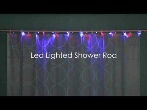 LED Lighted Shower Rod ( LED-Lit Shower Curtain Rod & Remote Control for Shower Rod) LED燈浴簾桿