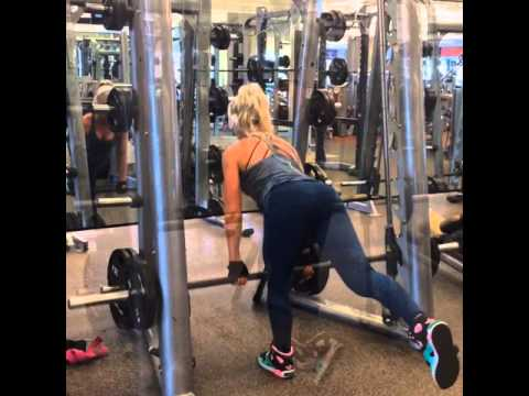 smith machine single leg deadlift youtube