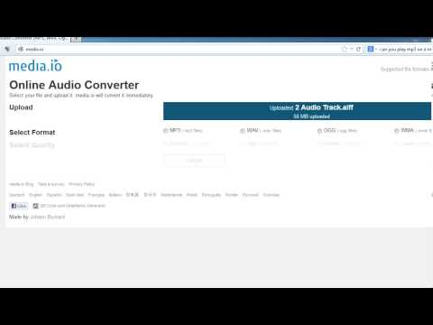 How to Convert .aiff to .mp3
