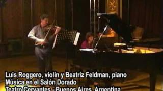 Danza española - Manuel de Falla por Luis Roggero violín y Beatriz Feldman piano
