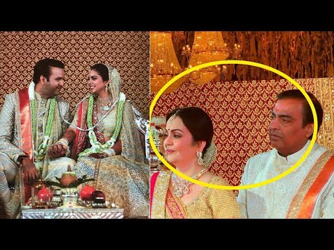 Omg ! Mukesh Ambani and Nita Ambani crying on watching daughter Isha as bride 😢