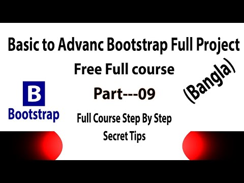 Bootstrap Full Project Part 9