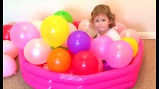 Aprende Colores con Globos de colores* Learn Colors with Balloons For Toddlers Colored Balloons