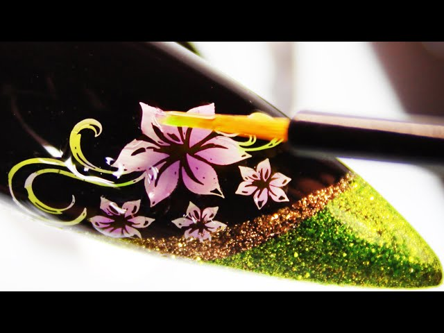 (How-To) Jelly Tinted Coloring Floral Vine Stamping Nail Art